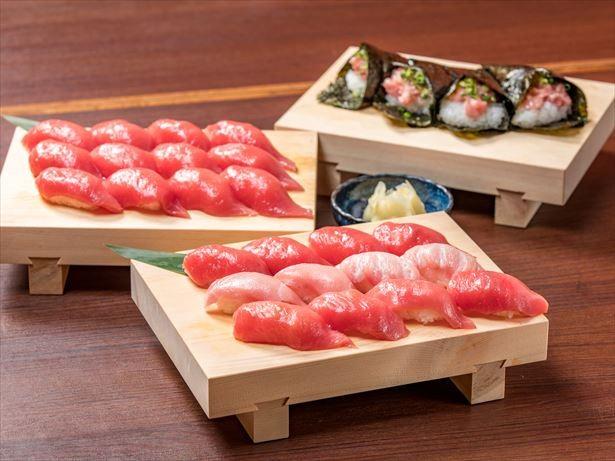 好評集めた新宿の「まぐろ握り食べ放題」企画がパワーアップ!シャリ抜きも可に
