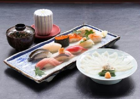 旭鮨総本店、2月28日まで創業祭特別サービスを実施中〜国産とらふぐを贅沢に使った、『ふぐ刺身とにぎり鮨』を提供