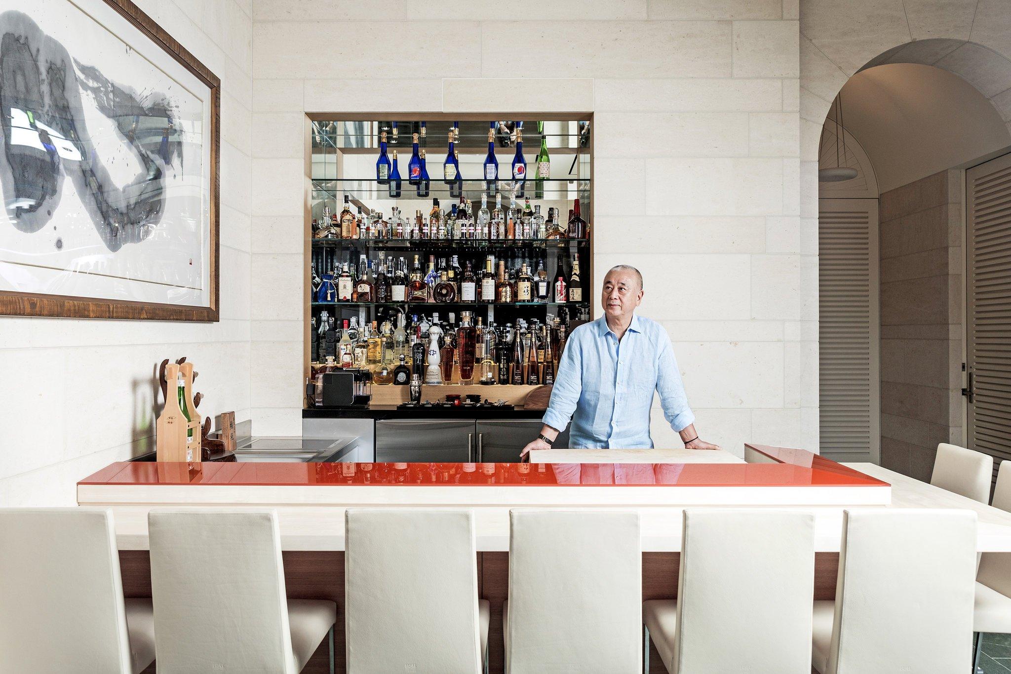 自宅の寿司バーは、世界のノブ・マツヒサのやすらぎの場所。