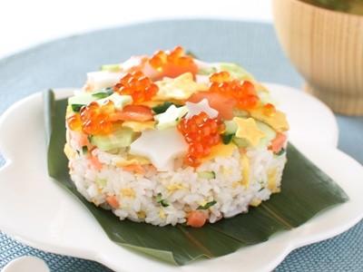 星空ちらし寿司で七夕レシピ
